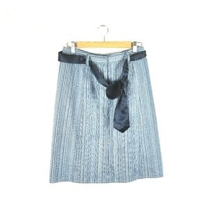 Christopher & Banks Blue Striped Stretch Skirt 6
